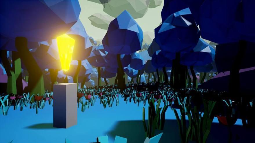 VR Design Blue Trees