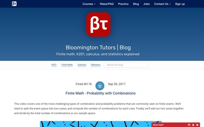 Web UX Design: BloomingtonTutors